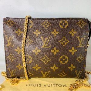 Vintage LOUIS VUITTON Monogram Pouch on Chain
